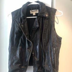 Michael Kors Leather Vest